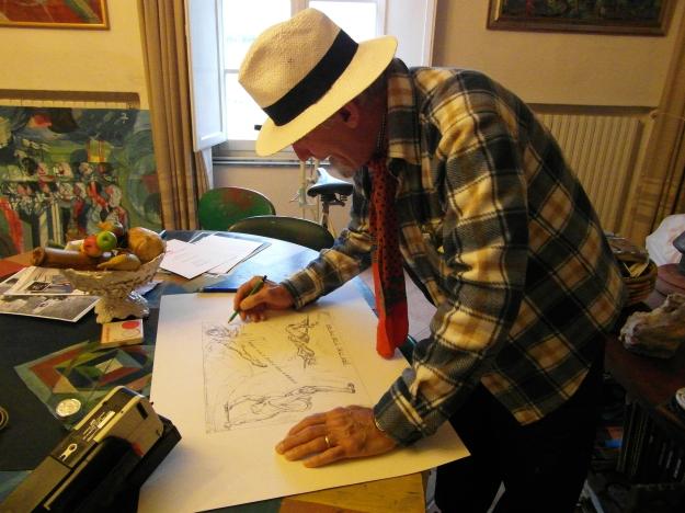 Daniel Schinasi nel suo studio