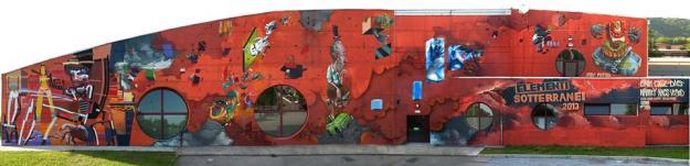 Panoramica della murata per Elementi Sotterranei 2013 - Gemona del Friuli