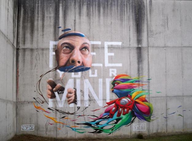Encs+Skià - Muro esterno ex-carcere Tirano
