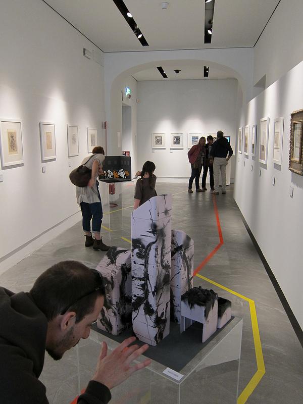 """""""ghetto abstract 1976"""" rielaborazione scultorea per l'expo MINI MAXI URBAN ART al GAMC 2013"""
