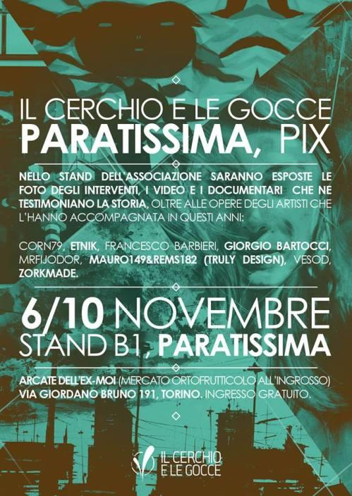 Il Cerchio e le Gocce @ Paratissima – PIX