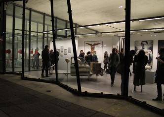 Veduta della mostra SKINCODE con le opere di Giovanni Depaoli, Nicolai Lilin e Robert Gligorov