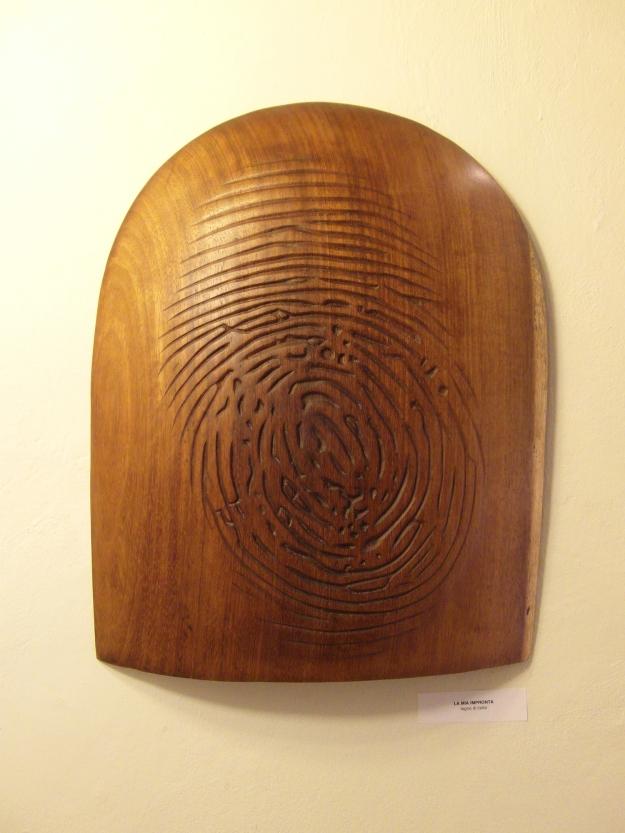 """""""La mia impronta"""" - legno di iroko"""